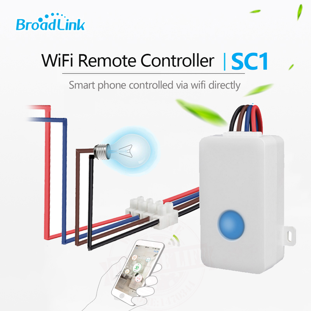 2017 Broadlink SC1 Wireless Wifi Remote Control Power Switch Smart Home Automation Modules Controller via iOS&AndroidMobilephone
