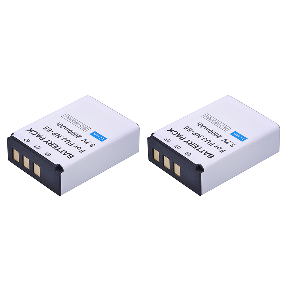2Pc 2000mAh NP-85 NP 85 Rechargeable Camera Battery For Fujifilm NP-85 Battery FUJIFILM SL240 SL245 SL300 SL305 FNP-85 CB170