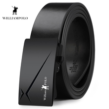 Williampolo 2019 Fashion Genuine Leather Men Automatic Buckle Bet For Business Man Casual Belt PL18409-11P