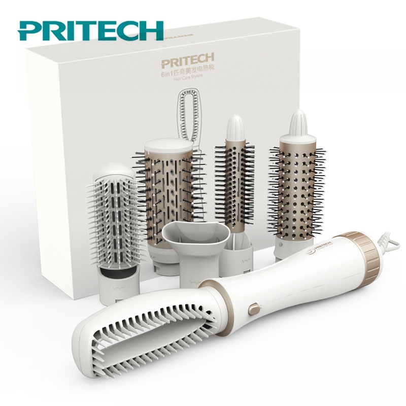 Pritech Multifunctional Hair Dryer Brush Styling Tools Electric Hair Curling Iron Automatic New Hair Straightener Curler Comb pro electric curling automatic hair dryer barber hairdressing styling tools hair comb anti scald curling irons hair curler comb