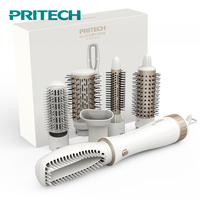 Pritech Multifunctional Hair Dryer Brush Styling Tools Electric Hair Curling Iron Big Wave Hair Curler Ionic Hair Comb 2 Speed