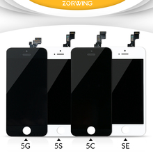 100% No Dead Pixel Tested LCD Display For iPhone 5S Screen Replacement With LCD Digitizer Touch Screen Assembly Complete