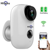 Wifi Battery Camera HD Outdoor Rechargeable IP Camera PIR Waterproof Motion Detect App View Hiseeu