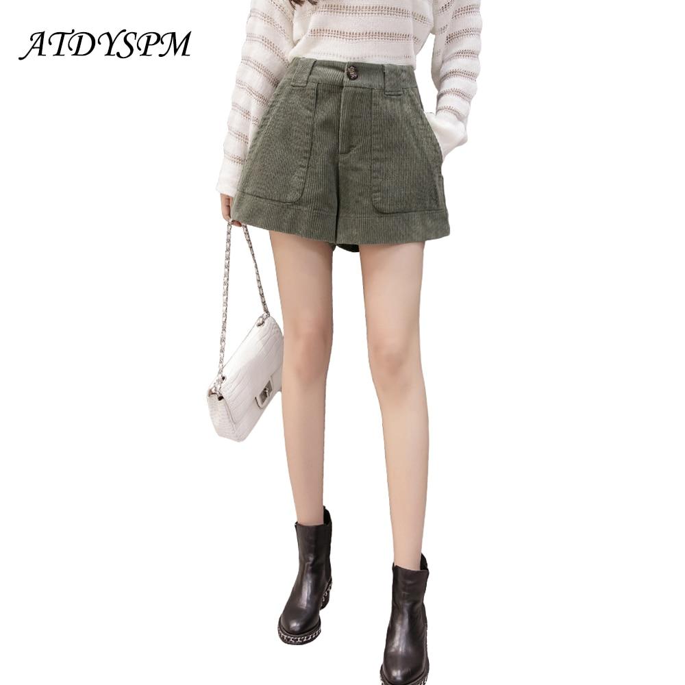 New autumn winter plus size 4XL 5XL women thick   shorts   loose A-line wide leg casual   shorts   high waist outwear boots   shorts