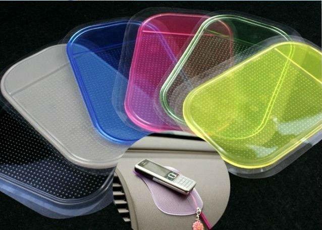 Free shipping 10pcs/lot Wholesale Magic Non slip sticky pad anti slip mat Car Anti slip Pad Washable Durable Use 80024