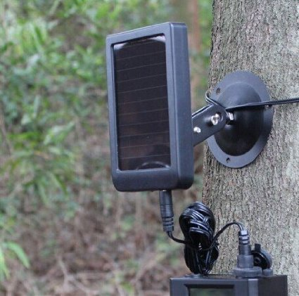 Solar Power Supply with 1500mAh Built-In Battery For Hunting Trail Camera