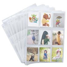 50 комплектов игровых карт для хранения Бумажник альбом коллекция страниц нейтральный Прозрачный чехол для карт