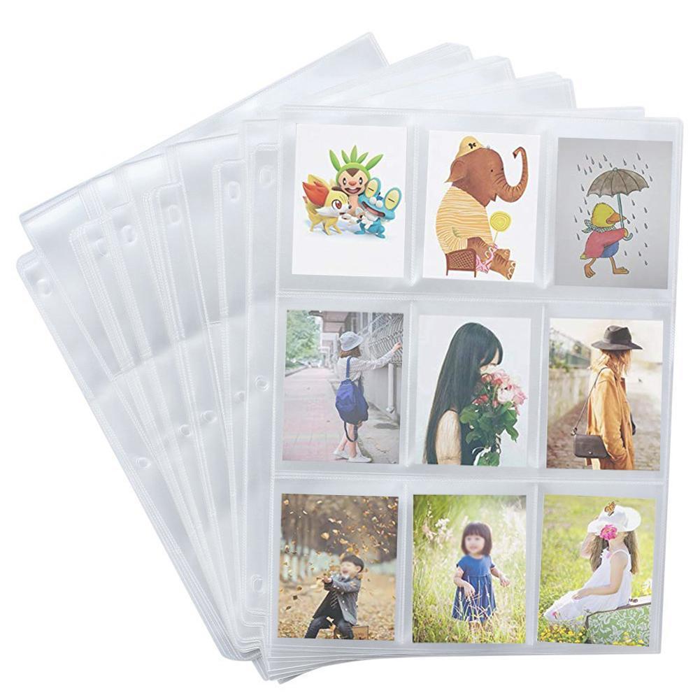 50 conjuntos de cartão de jogo armazenamento carteira álbum página coleção neutro transparente cartão de jogo mangas cartão álbum cartão capa