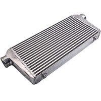 Intercooler Plate Full Aluminum Bar Front Mount 600x300x76MM 3.0 Outlet Inlet