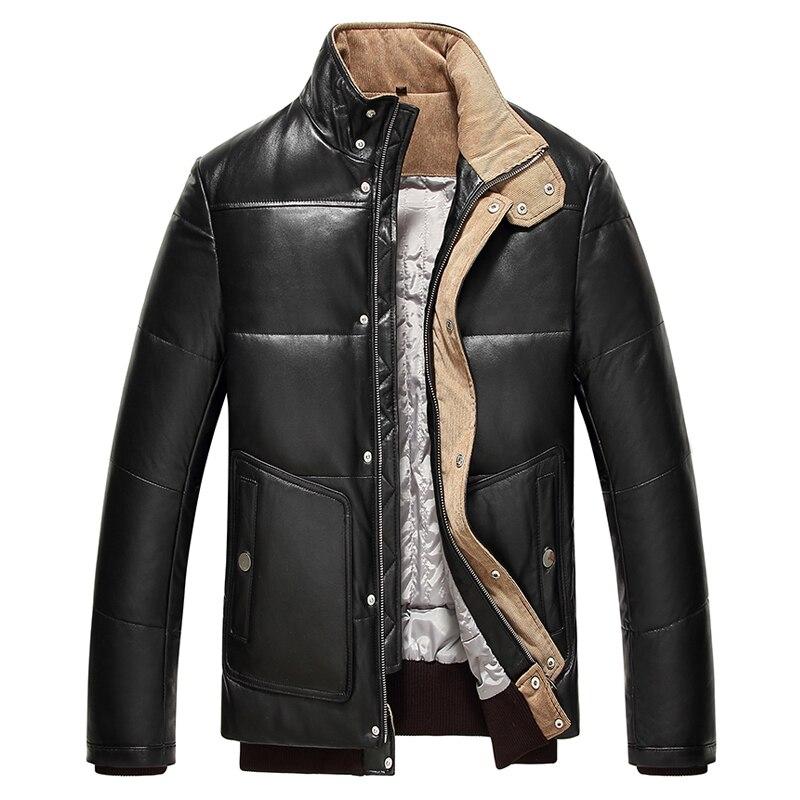 2019 ใหม่ฤดูหนาวจริงหนังลงเสื้ออบอุ่นชายเสื้อหนังแกะหนังลงผู้ชายของแท้หนังหนา-ใน เสื้อโค้ทหนังแท้ จาก เสื้อผ้าผู้ชาย บน AliExpress - 11.11_สิบเอ็ด สิบเอ็ดวันคนโสด 1