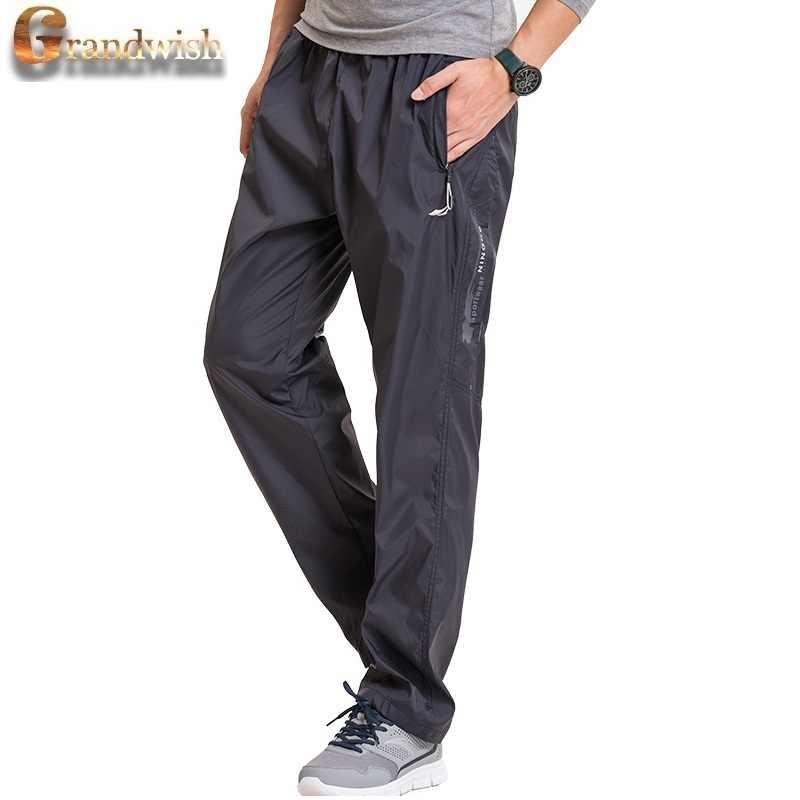 d7edb6821094 ... Grandwish Fleece Thick Pants Men Outside Winter Pants Men Fleece Warm  Straight Mens Fleece Pants Heavyweight ...