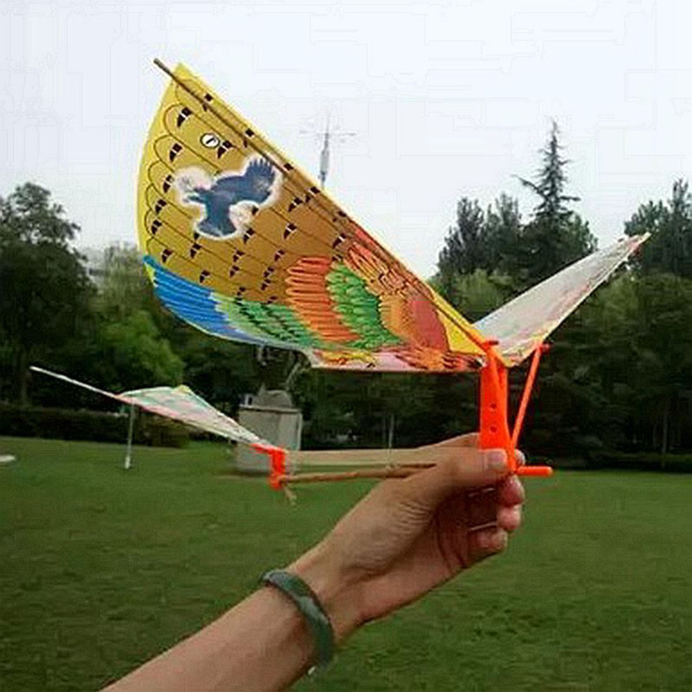Science Learning Education Birds Kite Butterfly DIY Rubber Band Power Handmade Bionic Air Models Children Gift funny outdoor toy
