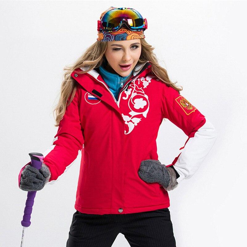 Prix pour Femelle Coupe-Vent Imperméable Respirant Veste de Ski Femmes Snowboard Veste D'hiver Ski Manteau D'hiver Thermique Veste pour Femmes