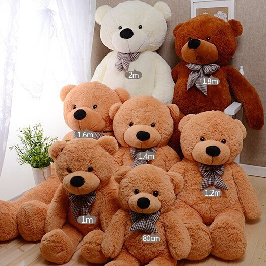 bstaofy dropshipping 80cm 200cm teddy bear with bow toys. Black Bedroom Furniture Sets. Home Design Ideas