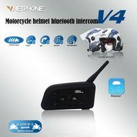 1200M V4 Bluetooth Helmet Intercom Waterproof FM Motorcycle Headphone Helmet Headset Intercome Communicator 4 Riders