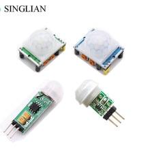 HC-SR501 HC-SR505 AM312 Adjust IR Pyroelectric Infrared Mini PIR Module Motion Sensor Detector Module Bracket For Arduino