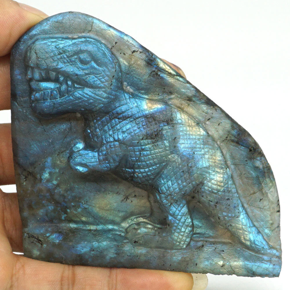 Dinosaur Flash Labadorite Crystal Healing Reiki Stone Carving Statue Home Decor Dinosaur Flash Labadorite Crystal Healing Reiki Stone Carving Statue Home Decor