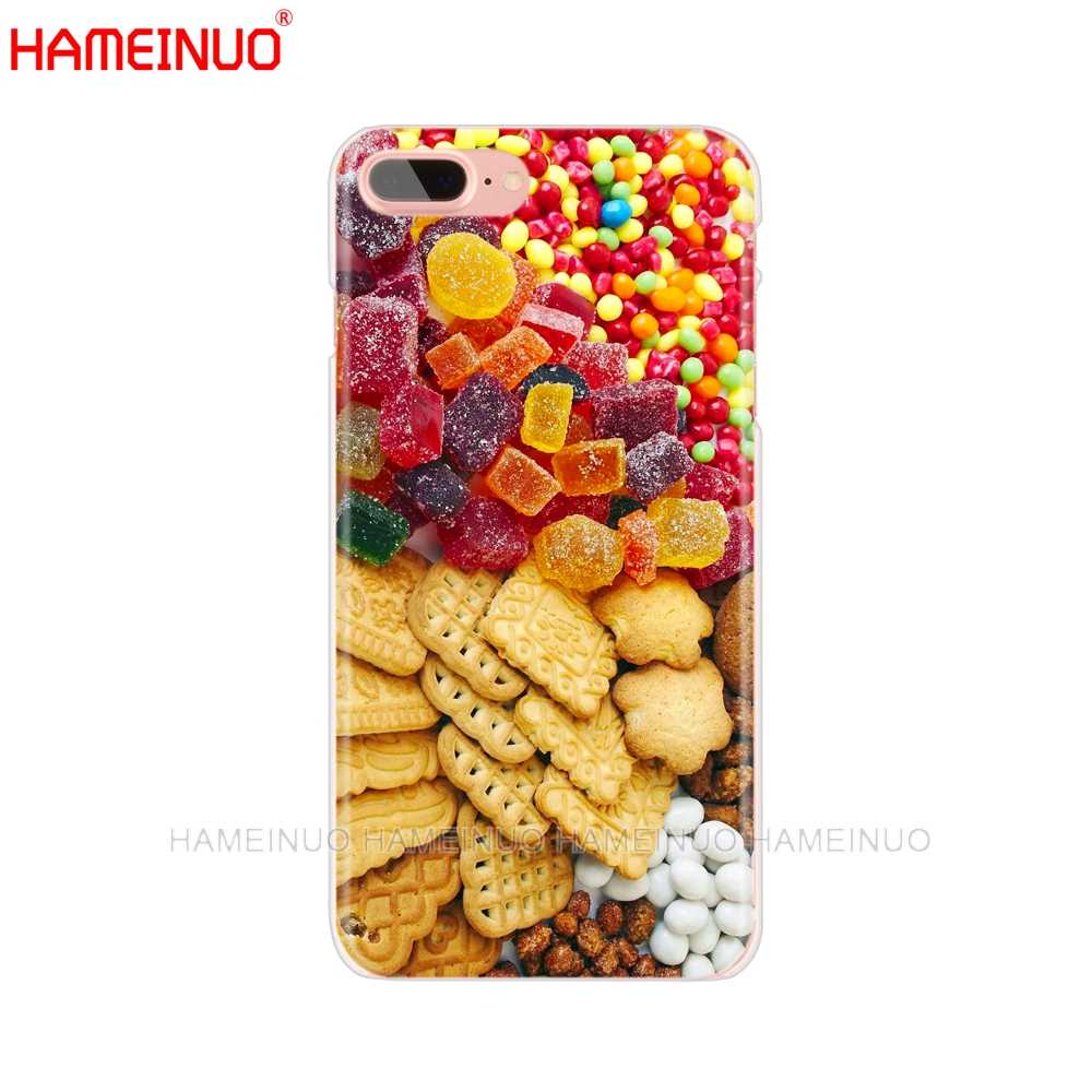 HAMEINUO żywności herbatniki czekoladki mięso projekt telefon komórkowy pokrywy skrzynka dla iphone X 8 7 6 4 4S 5 5S SE 5c 6 s plus