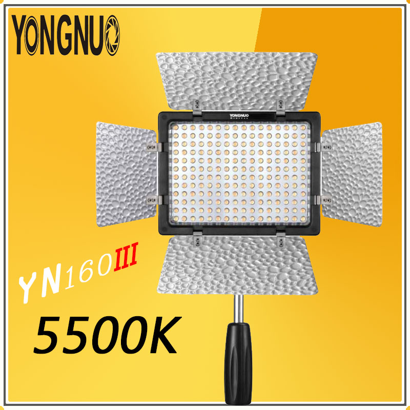 YONGNUO YN160 III 5500K CRI95 Photographic lighting lamp 160 LED Video Light for Canon Nikon Sony DSLR & cameras Camcorder YN160 недорого