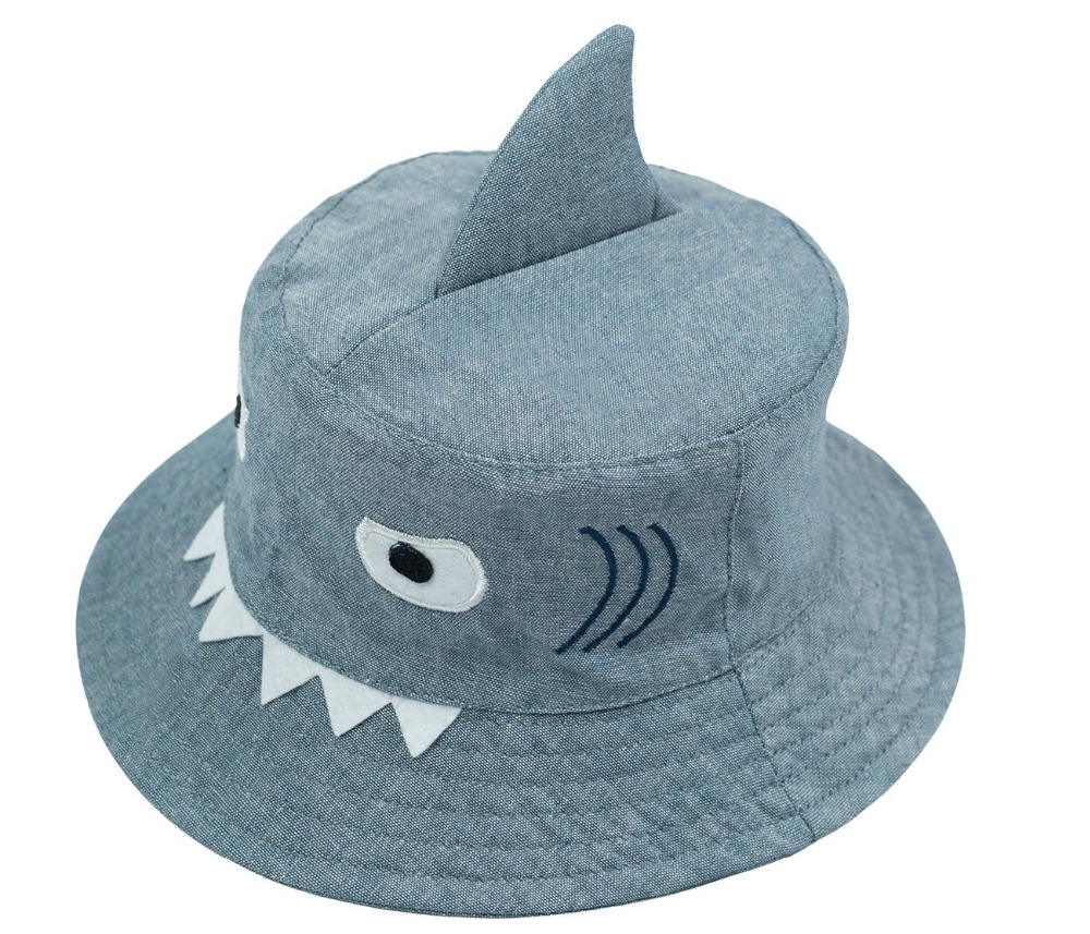 3D Shark Design Baby Sun Hat Infant Boys Girls Beach Hat Cotton Toddler Kids Summer Hat Sun Protection Bucket Hat 0-6Y dg0091 rounding top hat beach hat coffee