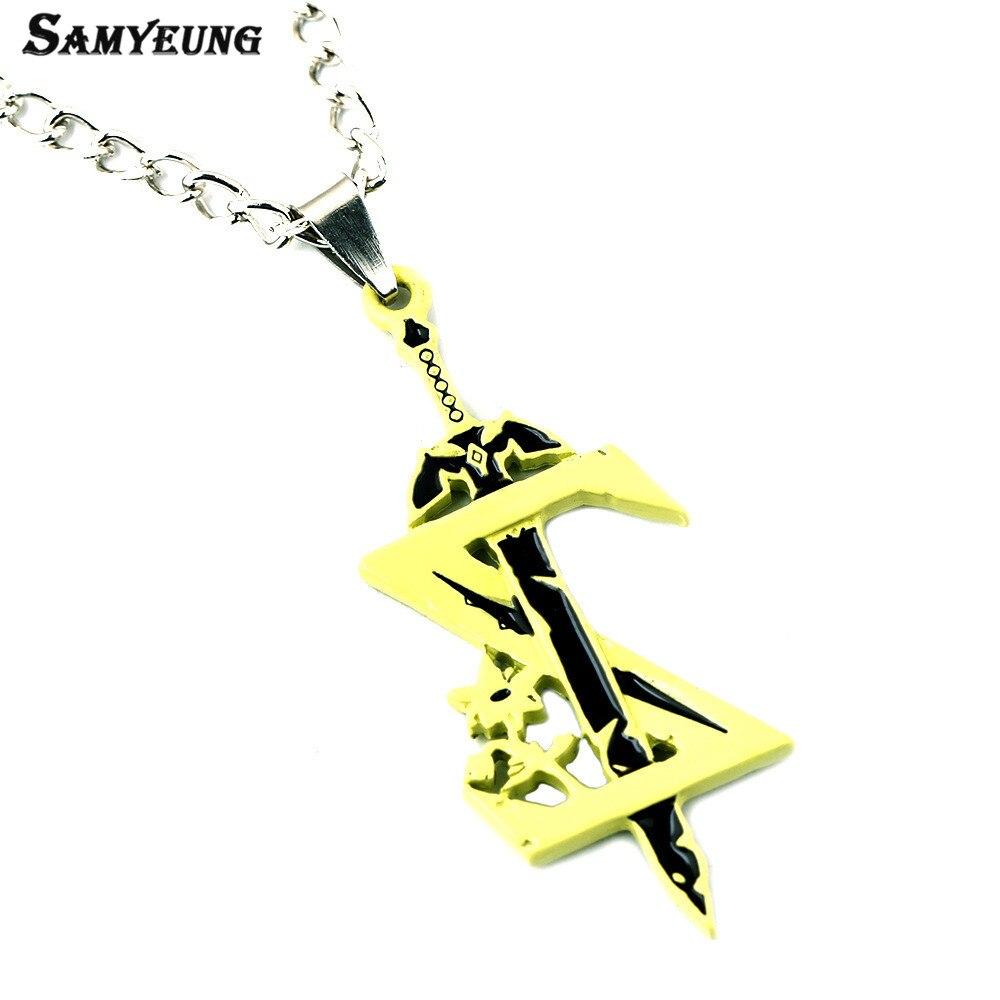 Samyeung 10Pcs font b Anime b font Sword Zelda Necklaces for Best Friends Necklace Male Necklace