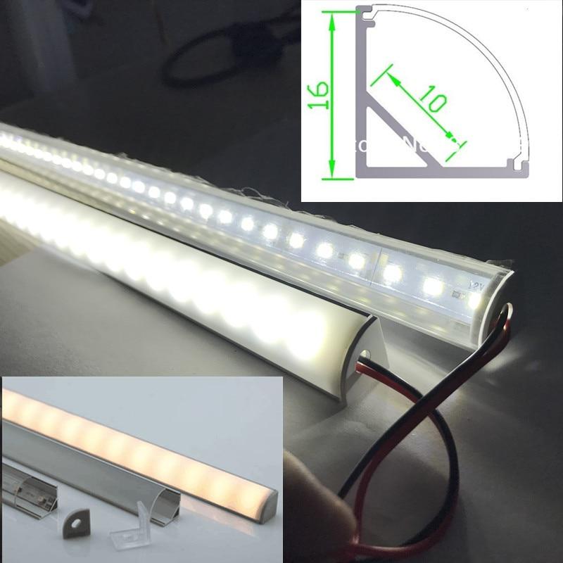 barre lumineuse led a 5050 led eclairage pour cuisine armoire armoire ou armoire coin de 45 degres 6 pieces lot de 0 5 m pc