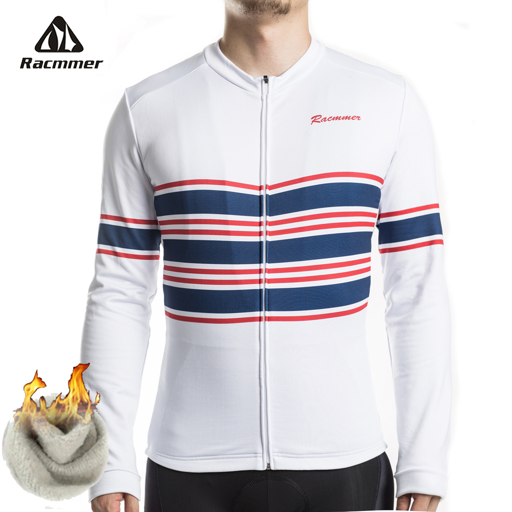 Racmmer 2019 NEW Thermal Fleece Cycling Jersey Winter Jacket Mens MTB Long Sleeve Bike Bicycle Clothing Jerseys Maillot Ciclismo