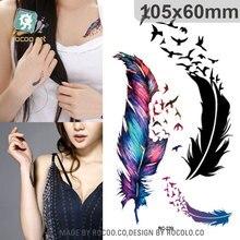 2pcs/lots Tattoo Custom Color Small Fresh Goose Feather Pattern Tattoo Stickers Custom RC2239