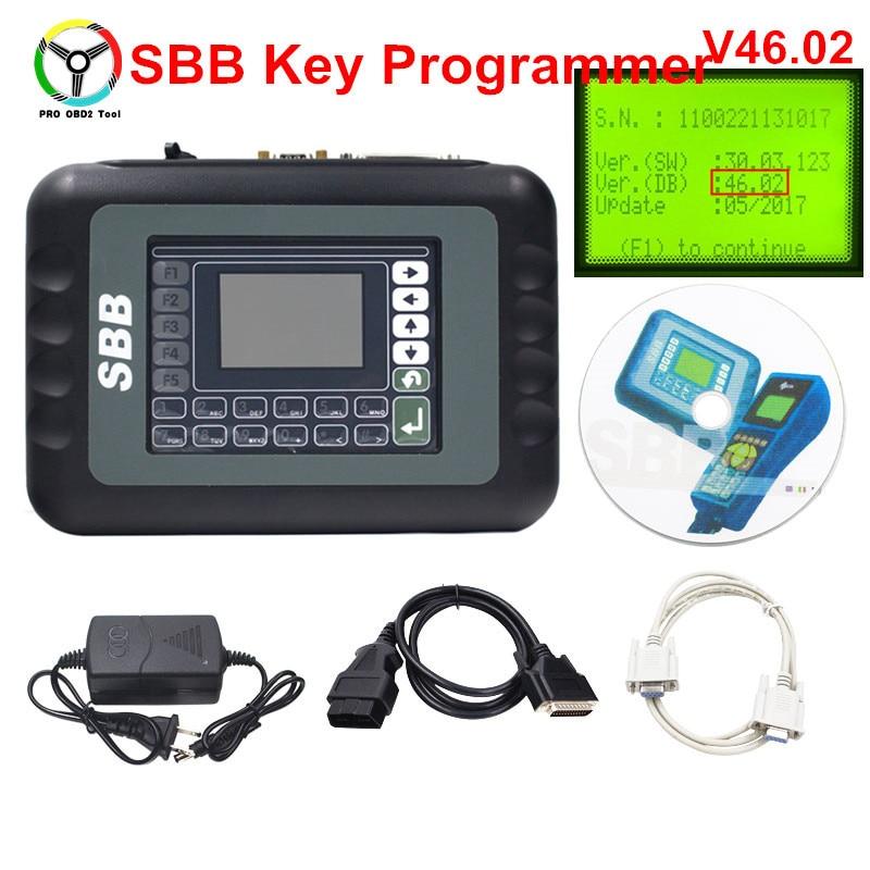 Нет Жетоны ограниченной SBB V46.02 Авто Programmmer SBB Ключевые транспондера как CK V46.02 лучше, чем SBB V33.02 обновление прошивки