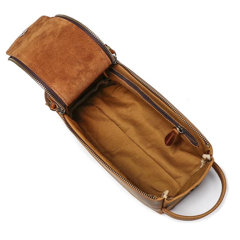 Nesitu Vintage Brown Black Thick Genuine Crazy Horse Leather Women Men Cosmetic Bag Travel Toiletry Wash Bag Make Up Bags M9049