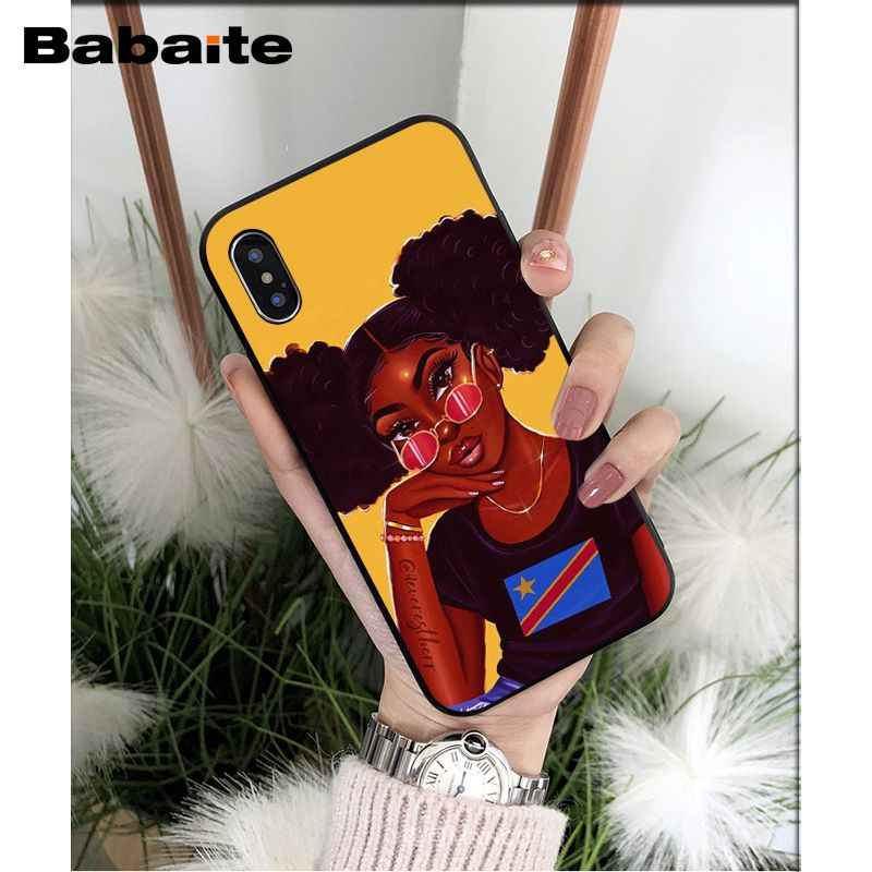 Babaite afrykańskie piękno Afro Puffs czarna dziewczyna wysokiej jakości etui na telefony dla Apple iPhone 8 7 6 6S Plus X XS MAX 5 5S SE XR okładka