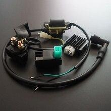 Катушка зажигания CDI, Регулятор выпрямителя, релейный комплект для квадроциклов, внедорожников, велосипедов, Gokart, 50cc, 70cc, 90cc, 110cc, 125cc, четырехъ...