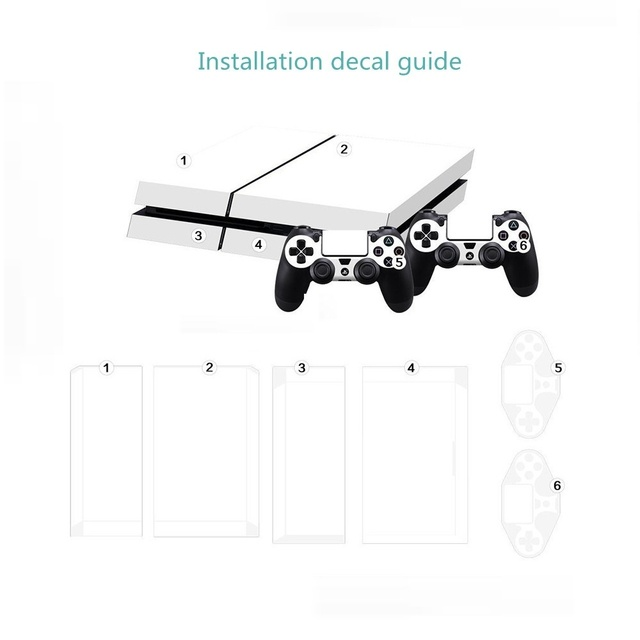 Football Ps4 Sticker Vinyl Cover Decal PS4 Skin for PS4 Console and 2 Controllers 1