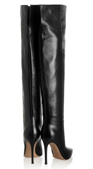 2018  New Winter Black Genuine Leather Long Over The Knee Boots Women Pointed Toe Back Zip High Heels Shoes Slim Leg All Match2018  New Winter Black Genuine Leather Long Over The Knee Boots Women Pointed Toe Back Zip High Heels Shoes Slim Leg All Match