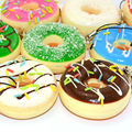 30PCS 5CM Squishy Mini Donut Chocolate Covered Toys Simulation Food Collectibles Sweet Roll Wholesale