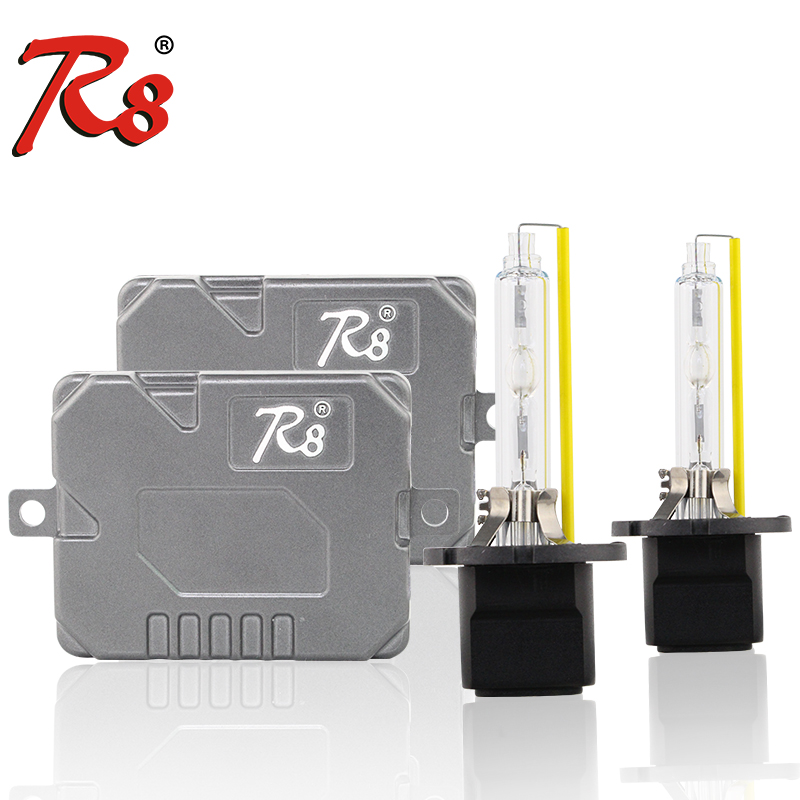 R8 Super Canbus 55W HID Kit phare xénon Ballast mince 881 H1 H7 H8 H11 HB3 HB4 D2H 5500K H4 9007 H13 ampoule bi-xénon haute luminosité