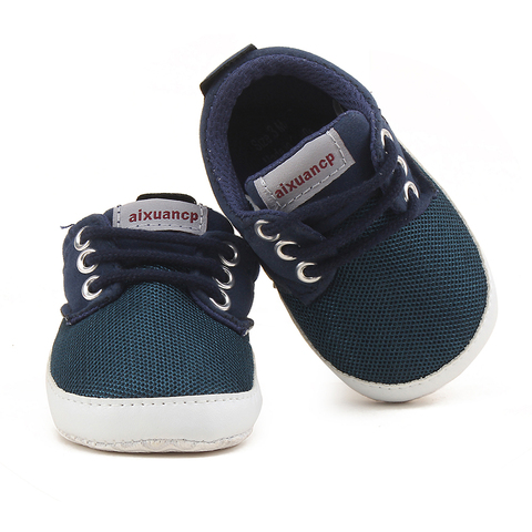 Toddler Newborn Baby Shoes Breathable Mesh Baby Toddler Child Autumn Spring Soft Bottom Lace-up Unisex Baby Shoes Baby Boy Shoes Multan