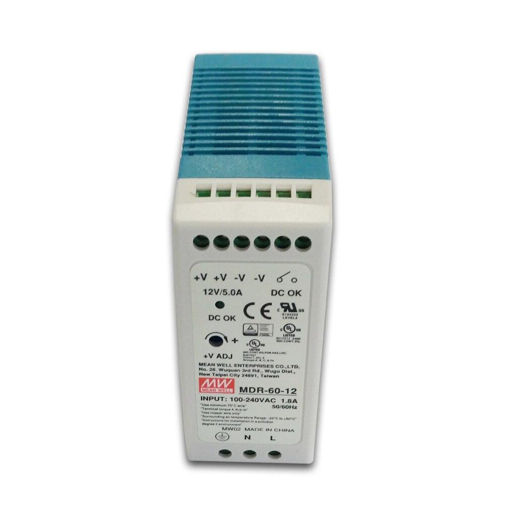 MDR-60 60W Single Output 5V 12V 15V 24V Din Rail Switching Power Supply  AC/DC