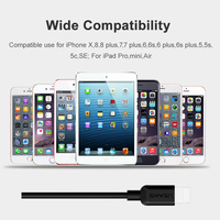 5 iphone 5s USB Cable For iPhone 7 Cable,USAMS 2A Fast Charging for iPhone X 8 7 6 6s plus 5s 5 SE Date Cables charger for lighting cable (5)