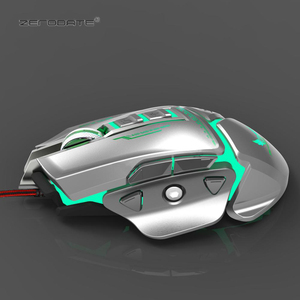 Image 2 - ZERODATE X400GY 11 key USB wired optical gaming mouse with LED light 3200DPI adjustable weight for PC laptop programmable
