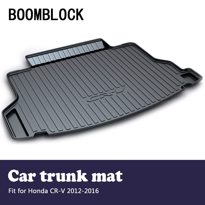 BOOMBLOCK For Honda CRV 2012 2013 2014 2015 2016 CR-V Waterproof Anti-slip Car Trunk Mat Tray Floor Carpet Pad Auto Accessories велосипед scool nixe 16 2016