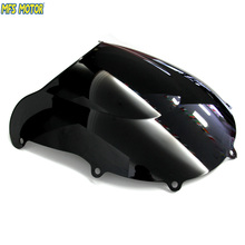 Motorcycle Accessories Double Bubble Windshield/Windscreen - Black  For Suzuki GSXR 600/750 1996 2000 96 97 98 99 00
