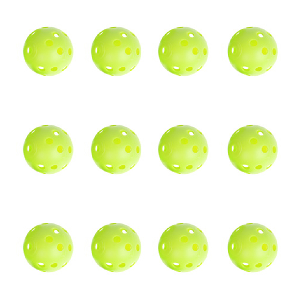 12pcs/set Hollow Practice Golf Ball Outdoor Sport Training Game Children Kids Plastic Whiffle Airflow Hollow Golf Sports Toys