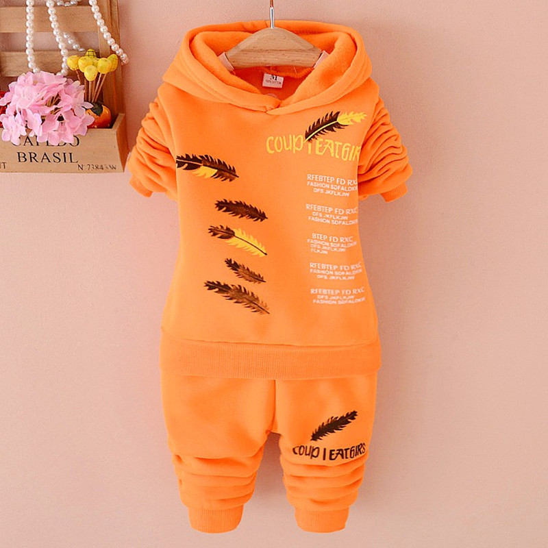 New children autumn clothing suits kids full sleeve hoodies+ trousers 2Pcs/set baby boys clothes girls Spring Wear