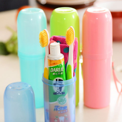 High Quality Fashion 2015 Convenient Travel Camping Bath Toothbrush Toothpaste Holder Cover Protect Case Box Cup Hot 59X9 image