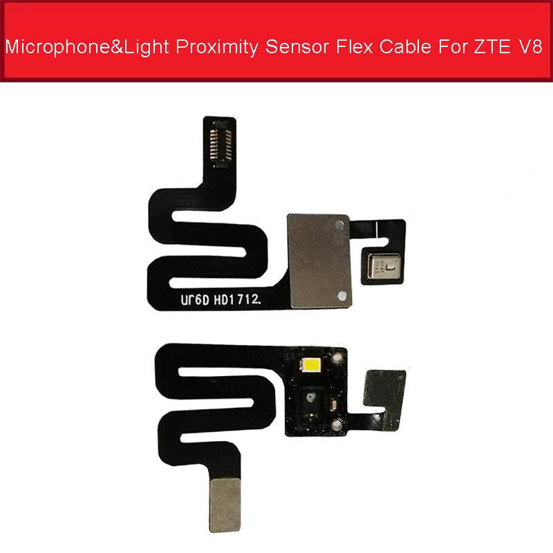 Microphone & Proximity Light Sensor Flex Cable For ZTE Blade V8 BV0800 Menu Button Touch Sensor Flex Ribbon Replacement Parts