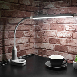 15 светодиодов настольная лампа глаз защитный зажим клип свет USB сенсорный датчик Яркость Регулируемая Гибкая лампа настольная для чтения, о...