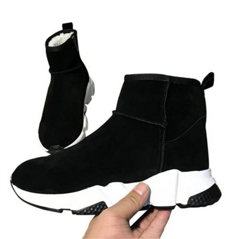 Новые стильные женские короткие сапоги приковано дизайна на молнии через звезды толстом квадратном Обувь на высоком каблуке Женская обувь