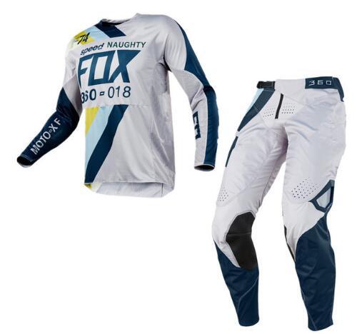 купить 2018 NAUGHTY Fox Speed-division 360 Draftr Motocross Racing Suit 180 360 MX Jersey Off-Road Motorcycle Riding Pants Dirt Bike недорого
