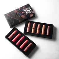 LIDEAL Matte Lip kit Professional 5pcs/set Waterproof Nude Lipstick Set Moisturizer Long-lasting Sexy red Batom Velvet lip gloss